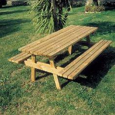 Table de Pique-Nique en bois - Code produit: 9548286 - Cliquez sur la photo pour voir la fiche produit