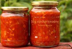 Sos słodko-kwaśny do słoika Creative Food Art, Polish Recipes, I Want To Eat, Canning Recipes, Food Design, Chutney, Food And Drink, Favorite Recipes, Jar