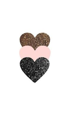 triple glitter heart phone wallpaper #GlitterFondos