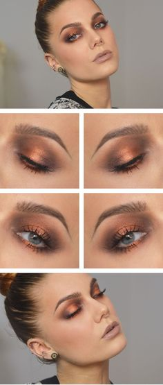The amazing Linda Hallberg. Love this copper eye look.