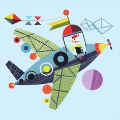 Mod Plane Canvas Art