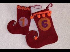 Nähen mit Claudia * Elfenstiefel Adventskalender   Stricken lernen, Häkeln lernen mit eliZZZa * Socken stricken, Stricken Anleitungen,Strickmuster, Häkelmuster, Häkelanleitungen