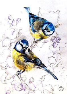 by Oksana OxyGen Gatalskaya graphic#illustration#bird#