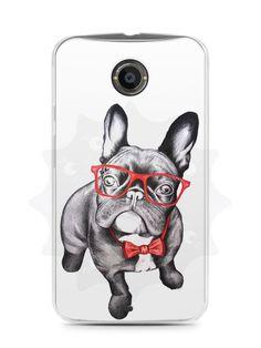 Capa Capinha Moto X2 Cachorro Bulldog Francês Estiloso - SmartCases - Acessórios para celulares e tablets :)