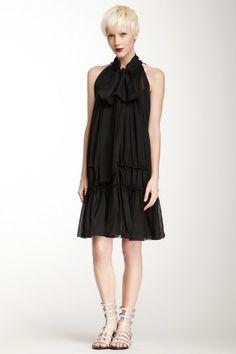 L.A.M.B. Bowneck Silk Chiffon Dress on HauteLook