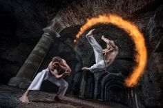 Pyrotechnics meets the martial art of Capoeira in an abbey in Belgium. Description from slrlounge.com. I searched for this on bing.com/images