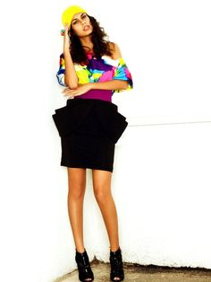 Morgan structured pencil skirt in black miami fashion by MittmibyD