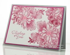 January 2018 Stamp-A-Stack #2: Berry Heartfelt Blooms