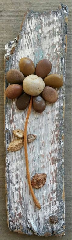 Pebble Art Rock Art Pebble Art Flower Rock Art Flower