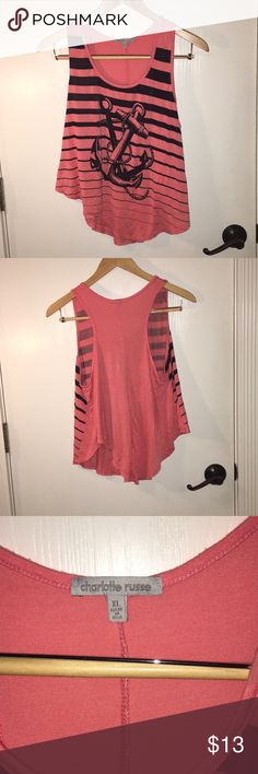 Charlotte Russe Tank Top Charlotte Russe Anchor Tank Top Size XL Perfect For A Swim Suit Coverup  Gently Used Great Shape Smoke Free Home 🚭 If Interested Please Send Me A Rew For Stopping By My Closet! Charlotte Russe Tops Tank Tops