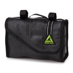 UPCYCLED BIKE TUBE HANDLEBAR BAG | Bike Bag Gear Lunch Box | UncommonGoods