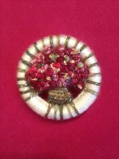 Dorset button Christmas brooch by AJ