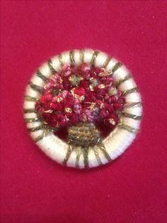 Dorset button Christmas brooch by AJ
