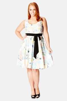 City Chic 'Soft Innocence' Fit & Flare Dress (Plus Size) by City Chic on @nordstrom_rack