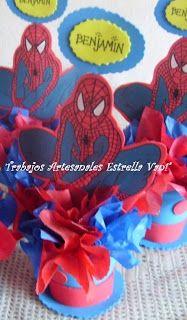 """""""TRABAJOS ARTESANALES """"ESTRELLA VANI"""": Para un cumpleaños Spiderman..."""