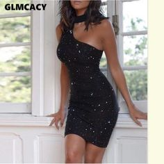 Summer Dress New Halter Sequin Bodycon Dresses Party Club Women Sleeveless Fashion Girls Backless Black Dress Mini Vestidos Mini Vestidos, Vestidos Sexy, Elegantes Party Outfit, Sexy Dresses, Evening Dresses, Party Dresses, Mini Dresses, Outfits Dress, Work Dresses