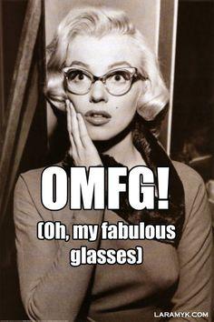 OMFG! Oh my fabulous glasses! <3 <3 <3