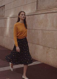 Printed pleated skirt - Woman | MANGO United Kingdom