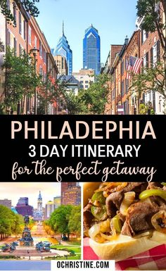 Philadelphia 3 day Itinerary for the Perfect Getaway. The Ultimate Philadelphia 3 day Itinerary You Need to Steal. Sharing some great info on where to eat and stay in Philadelphia. Philadelphia is such a fun but underrated city you will love to explore! #philadelphia #Philly | Philadelphia 3 days | What to do in Philadelphia | Philadelphia Travel Guide | Philadelphia Itinerary | Philadelphia Travel Tips | Philly in 3 days | Philadelphia Weekend Getaway |