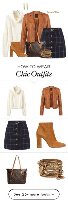 """Plaid Chic by Deranged Diva"" by derangeddiva on Polyvore featuring Louis Vuitton, Gianvito Rossi and ALDO"