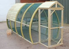 The Arch House Aviary just out of the workshop, ready for one very lucky customer