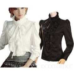 bb98d6eb2f9eb Victorian Blouse, Victorian Costume, Victorian Ladies, Satin Shirt, Vintage  Shirts, Vintage