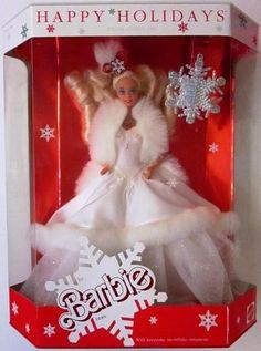 .1989 Happy Holidays Barbie Doll  -  Pinned 10-4-2015.