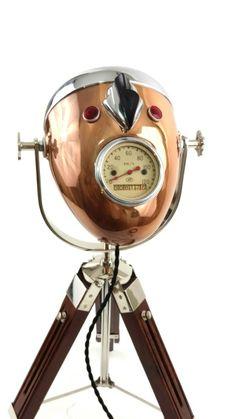 The Modern Weld Vintage Design Modern Illumination We build custom vintage motorcycle lamps Copper Table Lamp, Table Lamps, Loft Furniture, Vintage Designs, Modern Design, Chrome, Cool Stuff, Industrial Design, Lighter