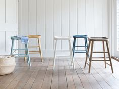 Our Bumble stools look the business in these muted colours. Start here and collect the whole rainbow.