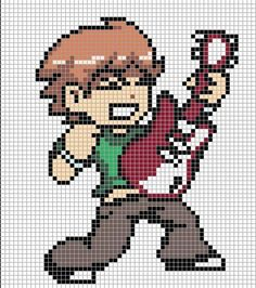 This is Scott Pilgrim pixel art