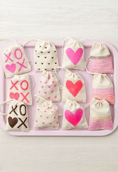 Share a treat with your special someone and show them how much you care when you make these DIY Valentine's Day Treat Bags