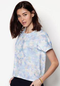 Buy Maxqullo Blue Printed Top | ZALORA HK