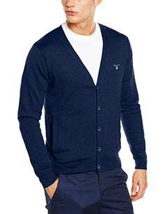 #GANT #Herren #Strickjacke #Cotton #Wool #Cardigan, #Blau #(Marine #Melange #487), #Small GANT Herren Strickjacke Cotton Wool Cardigan, Blau (Marine Melange 487), Small, , , , , ,