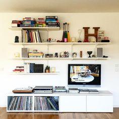 ideas living room ikea besta shelves for 2019 Wall Cabinets Living Room, Ikea Wall Cabinets, Ikea Wall Shelves, Ikea Living Room, Living Room Shelves, Living Room Green, Living Room Colors, Living Room Designs, Living Rooms