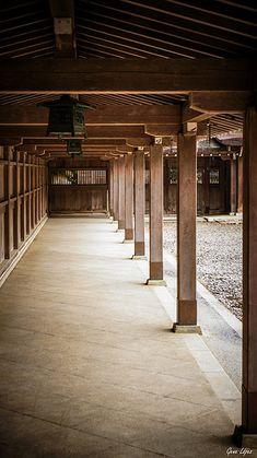 Japanese timber frame porch- simple elegant