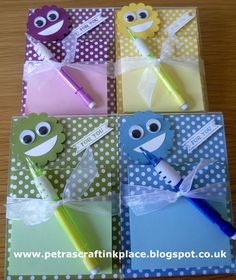 Kids Acrylic Frame Note Pad Holders