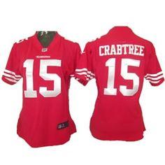 Womens Nike San Francisco 49ers 15 Crabtree Game Jersey <3 love him