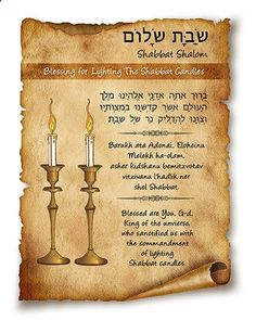 Blessing for Lighting the Shabbat Candles