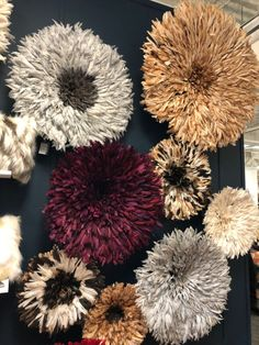 Fall 2017 HIGH POINT MARKET EMBELLISHMENT Design TRENDS -Traditional Juju hats from Camaroon at Accent Touch made of hen feathers