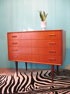 Danish Teak Dresser -- Curated by: OK Estates | 7 - 1960 Springfield rd Kelowna bc v1y 5v7 | 250-868-8108