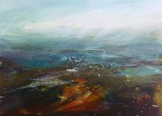 Kristan Baggaley. Low Cloud, Burbage Moor. Watercolour on paper
