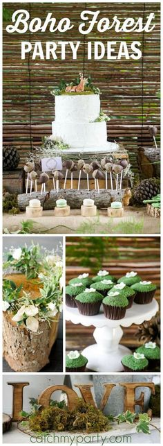 Such a lovely boho enchanted forest birthday party! See more party ideas at Catc. Boho Baby Shower, Baby Shower Themes, Baby Boy Shower, Shower Ideas, Fairy Birthday, Birthday Party Themes, Cake Birthday, Birthday Ideas, 1 Year Birthday