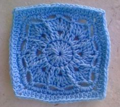 """One Crochet day at a Time """"BlueDragonFly Designs on a Hook"""": SMALL WINTER BURST 6"""" SQUARE"""