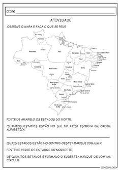 Imagem Relacionada Atividades Atividades De Geografia Mapa