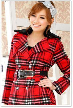 women clothing wholesale ladies thin coat k806 Red