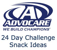 Great food/snack ideas for the 24 day challenge. If you need more information about the challenge please email me.