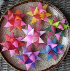Moravian paper star ornaments
