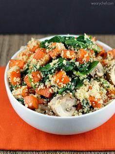 Sweet Potato Kale Couscous #healthy