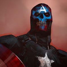 Red Skull Captain America by Otto Schmidt *