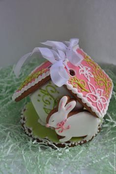 Easter gingerbread house / Подарки на Пасху ручной работы. Ярмарка Мастеров - ручная работа. Купить Мини домик-шкатулка. Handmade. Комбинированный, пасхальный подарок
